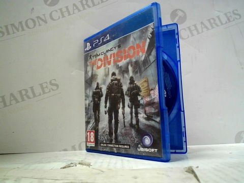 Lot 53 TOM CLANCY'S THE DIVISION PLAYSTATION 4 GAME