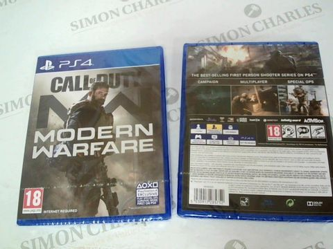 Lot 3411 BRAND NEW BOXED PS4 CALL OF DUTY MODERN WARFARE GAME
