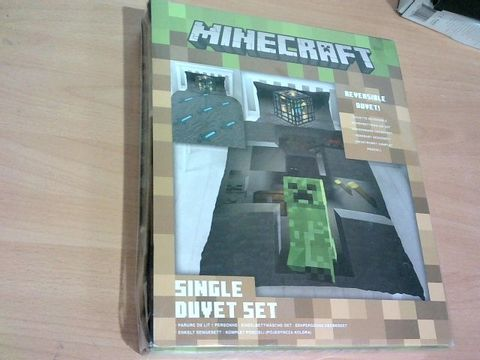 Lot 2336 MINECRAFT DUVET SET - SINGLE