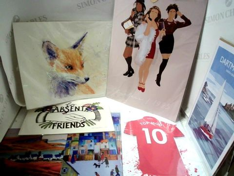 Lot 34 LOT OF APPROXIMATELY 10 ASSORTED ARTWORKS, PRINTS, POSTERS ETC