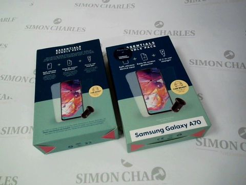 Lot 2639 BOX OF 24 BRAND NEW BOXED ESSENTIALS BUNDLE PACK FOR SAMSUNG GALAXY A70