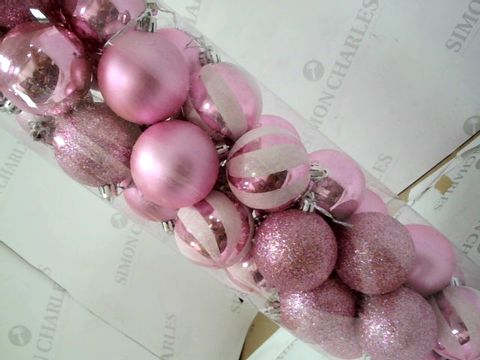 Lot 579 ASSORTED PINK CHRISTMAS BAUBLES