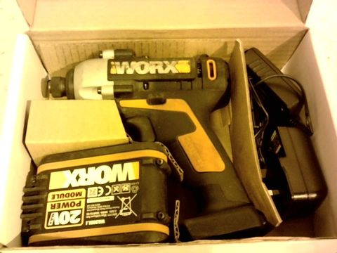 Lot 12251 WORX WX290.2 CORDLESS IMPACT DRIVER WITH X1 2. OAH
