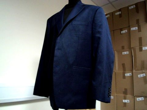 Lot 13075 DESIGNER RALPH LAUREN NAVY TWEED CHECK SUIT JACKET 42R