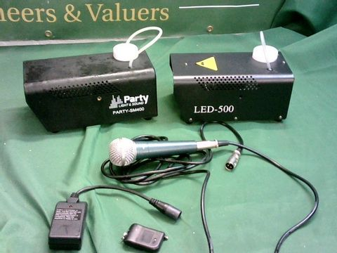 Lot 1011 LOT OF 2 PARTY SMOKE/FOG MACHINES + MICROPHONE