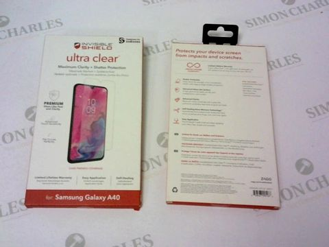 Lot 163 A BRAND NEW BOX OF APPROXIMATELY 25 INVISIBLE SHIELD ULTRA CLEAR FOR SAMSUNG GALAXY A40