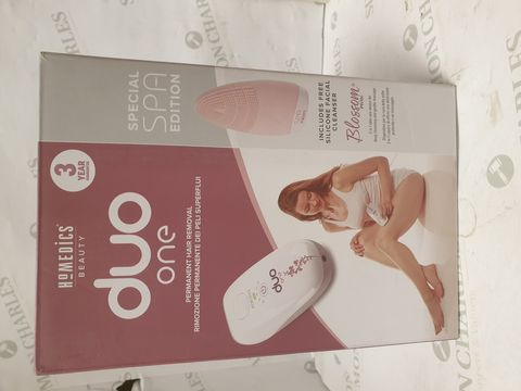 Lot 15236 BOXED BRAND NEW HOMEDICS DUO ONE PERMANENT HAIR REMOVAL SYSTEM