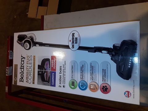 Lot 3263 BELDRAY AIRGILITY + CORDLESS VACUUM CLEANER