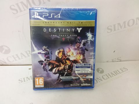 Lot 12467 BOXED SEALED DESTINY THE TAKEN KING LEGENDARY EDITION FOR PS4