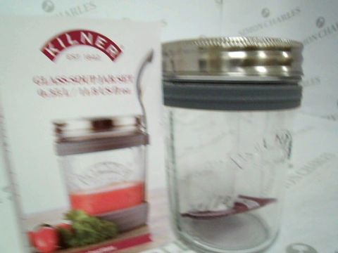 Lot 5047 BOXED KILNER GLASS SOUP JAR  RRP £17.99