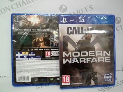 Lot 2384 BRAND NEW BOXED PS4 CALL OF DUTY - MODERN WARFARE GAME