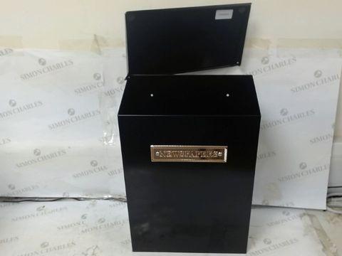 Lot 108 STERLING THAMES STEEL NEWSPAPER BOX - BLACK