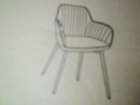 Lot 288 PAIR OF BOXED ALISHA BRASS LEGGED DINING CHAIRS RRP £259.00