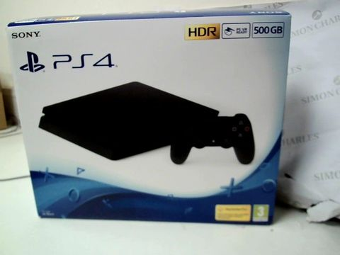 Lot 257 PS4 BLACK 500GB CONSOLE WITH PROJECT CARS RRP £379.00