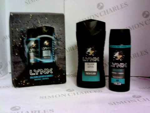 Lot 6053 LYNX COLLISION LEATHER AND COOKIES GIFT SET