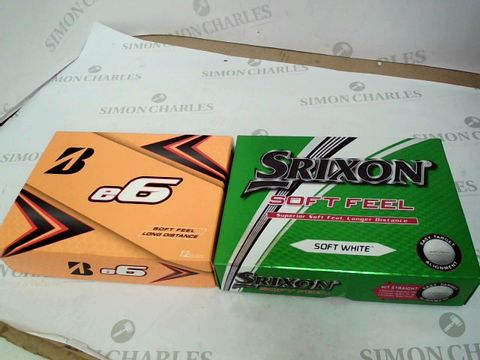Lot 306 E6 GOLF BALLS AND SRIXON SOFT FEEL GOLF BALLS