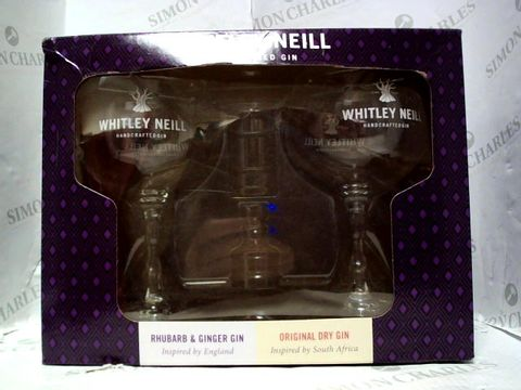 Lot 3035 WHITLEY NEILL PAIR OF GIN GLASSES (NO ALCOHOL INCLUDED)