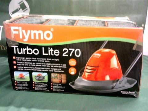 Lot 9065 FLYMO TURBO LITE 270 ELECTRIC HOVER LAWN MOWER