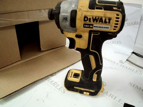 Lot 12506 DEWALT DCF887N XR 18V 3 SPEED BL IMPACT DRIVER BODY ONLY,