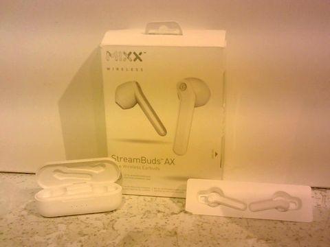 Lot 1231 MIXX AUDIO STREAM BUDS AX TRUE WIRELESS EARBUDS - WHITE
