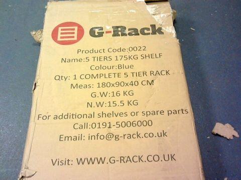 Lot 13282 G-RACK 5 TIER SHELVING UNIT