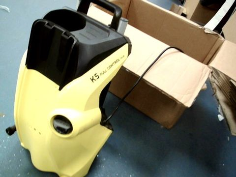 Lot 13465 KÄRCHER KARCHER K 5 FULL CONTROL PLUS PRESSURE WASHER, YELLOW/BLACK, MEDIUM