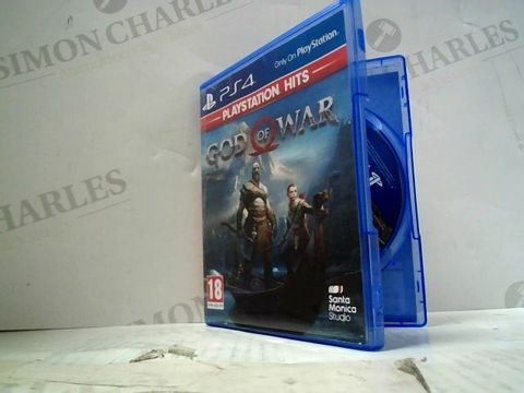 Lot 52 GOD OF WAR PLAYSTATION 4 GAME