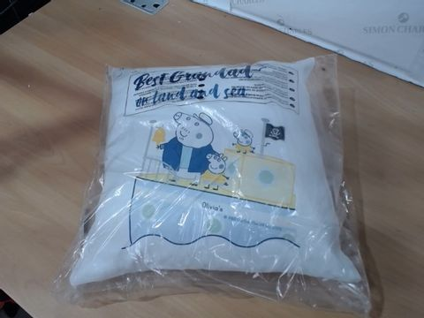 Lot 1192 PERSONALISED CUSHION RRP £24.99