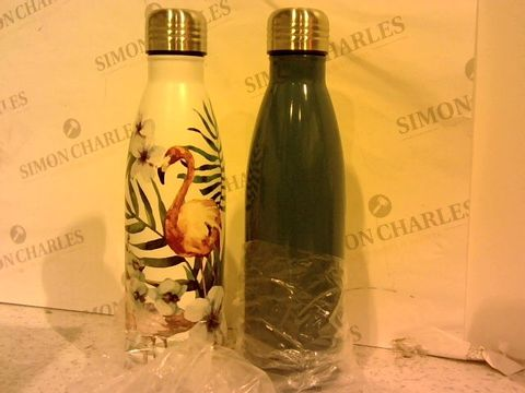 Lot 242 SET OF 2 500ML STAINLESS STEEL VACUUM HOT & COLD DRINKS BOTTLES
