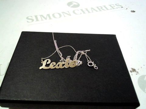 Lot 4176 9CT WHITE GOLD PERSONALISED NAME SCRIPT NECKLACE RRP £129.00