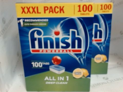 Lot 17172 FINISH POWERBALL 100 TABLET PACK X 2