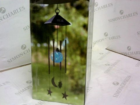 Lot 123 BOXED SMART SOLAR SUN MOON STAR WIND CHIME RRP £16.00