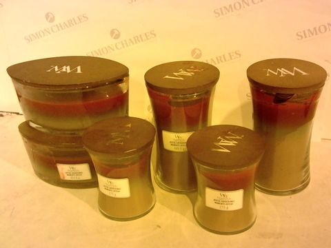 Lot 2201 SET OF 6 WOODWICK CANDLES
