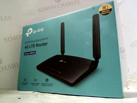 Lot 213 TP-LINK AC750 DUAL BAND WIFI 4G LTE ROUTER ARCHER MR200