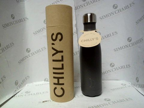 Lot 7677 CHILLY'S INSULATING 500ML WATER BOTTLE GREY