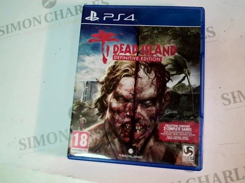 Lot 4889 PS4 DEAD ISLAND DEFINITIVE EDITION