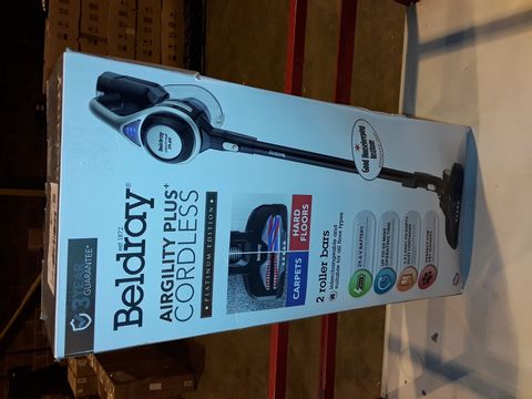 Lot 3243 BELDRAY AIRGILITY + CORDLESS VACUUM CLEANER