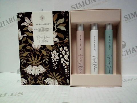 Lot 3058 LAURA ASHLEY SCENTED ROLLERBALL FLORAL BLOOM COLLECTION 3X10ML