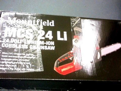Lot 404 MOUNFIELD 24V LITHIUM ION CORDLESS CHAINSAW MCS24Li