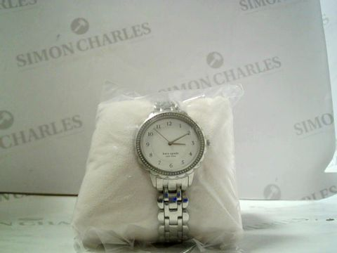 Lot 4008 KATE SPADE MORNINGS SILVER SCALLOPED OVAL DIAL STAINLESS STEEL BRACELET LADIES WATCH RRP £289.99