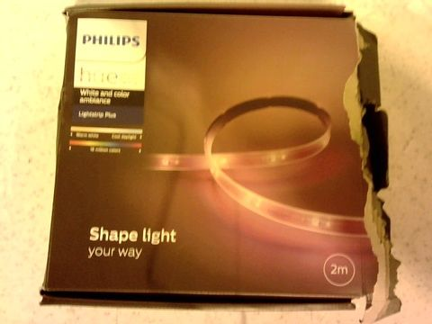 Lot 13061 PHILIPS HUE WHITE AND COLOUR AMBIANCE LIGHTSTRIP PLUS