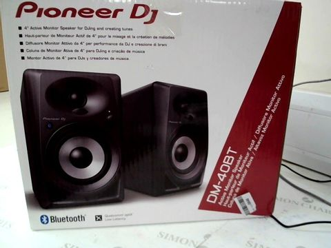 Lot 13470 PIONEER DJ DM-40BT ACTIVE MONITOR SPEAKERS