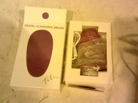 Lot 1719 TILI RECHARGEABLE VARIABLE SPEED SILICONE FACIAL CLEANSING BRUSH
