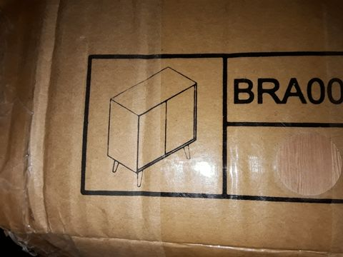 Lot 4029 BOXED BRIANA OAK 2 DOOR SIDEBOARD