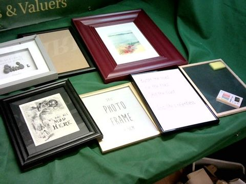 Lot 1314 LOT OF 7 ASSORTED PHOTOFRAMES