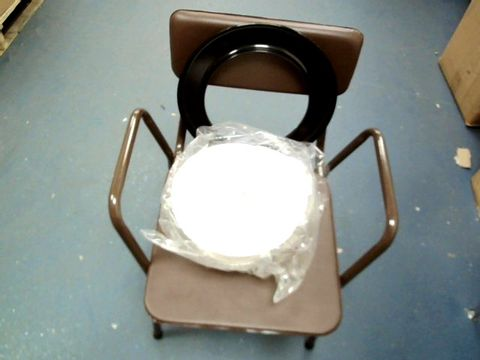 Lot 36 DAYS STACKING COMMODE FIXED HEIGHT STEEL CHAIR WITH PAN