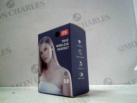 Lot 3063 BOXED F9 TRUE WIRELESS EARPHONES