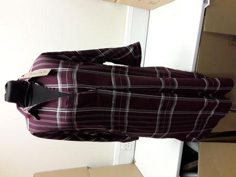 Lot 2087 DESIGNER PHASE 8 ABRIL CLARET CHECK DRESS SIZE UK 12 RRP £89.00