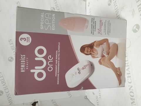 Lot 15238 BOXED HOMEDICS DUO ONE PERMANENT HAIR REMOVAL SYSTEM