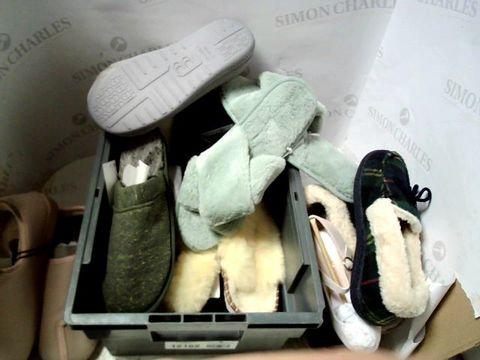 Lot 593 LOT OF ASSORTED SLIPPERS ETC